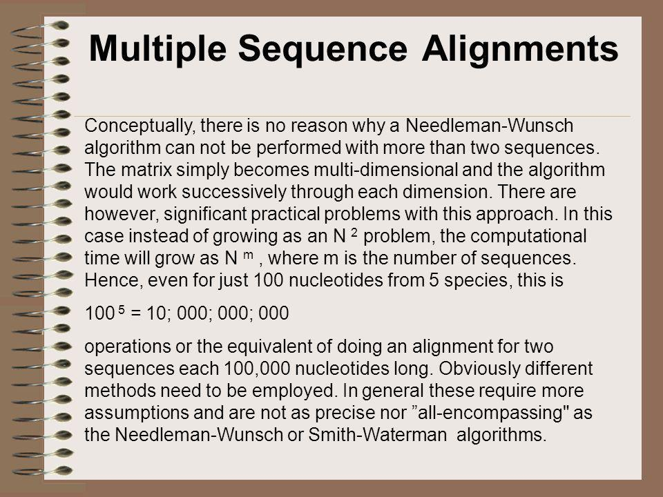 Tenkesettet til ClustalW, kortversjonen Algorithm: CLUSTALW progressive alignment (i)Construct a distance matrix of all N(N - 1)/2 pairs by pairwise dynamic programming alignment followed by approximate conversion of similarity scores to evolutionary distances using the model of Kimura [19831.