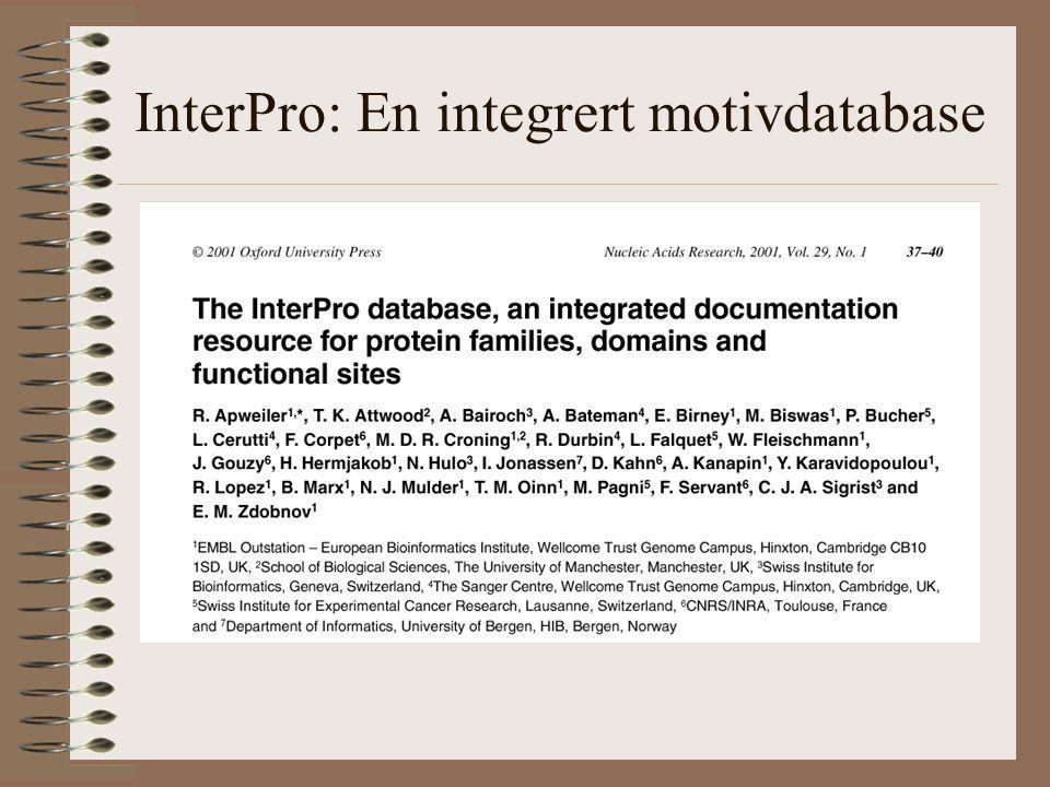 InterPro: En integrert motivdatabase