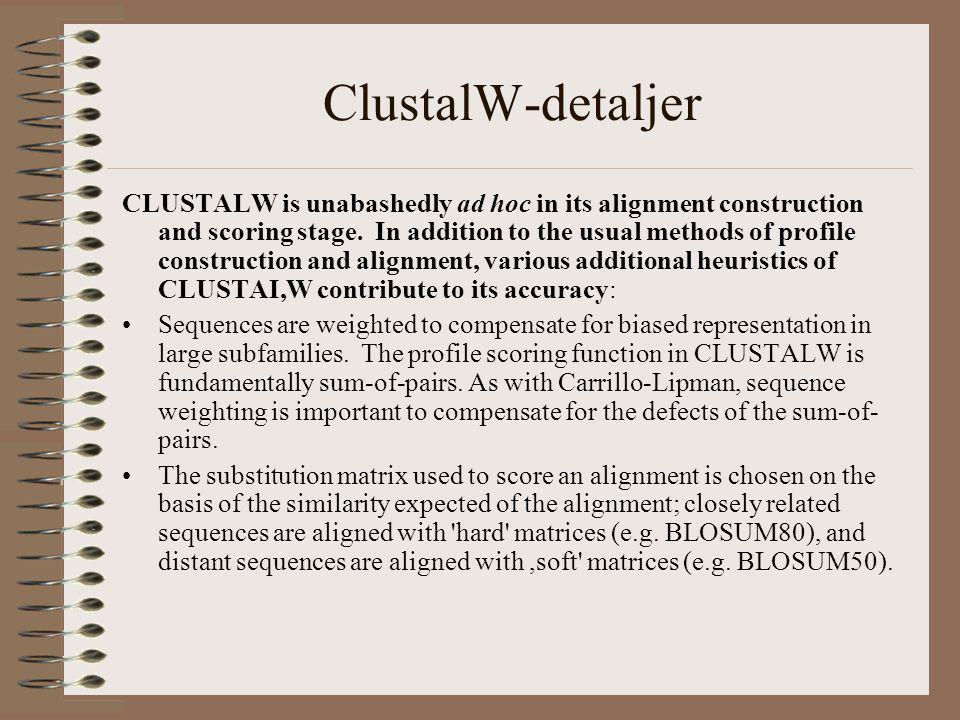 ClustalW-detaljer, forts.