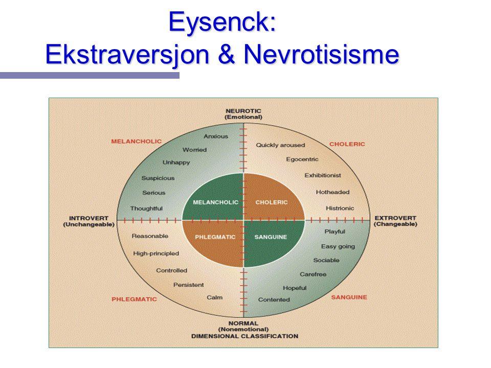 Eysenck: Ekstraversjon & Nevrotisisme