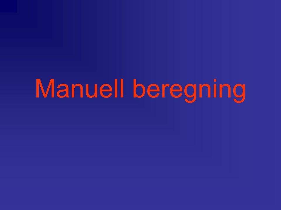 Manuell beregning
