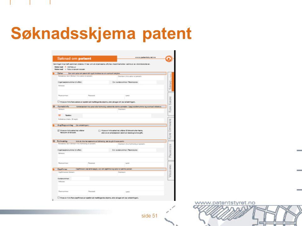 side 51 Søknadsskjema patent