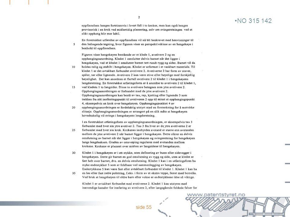 side 55 NO 315 142