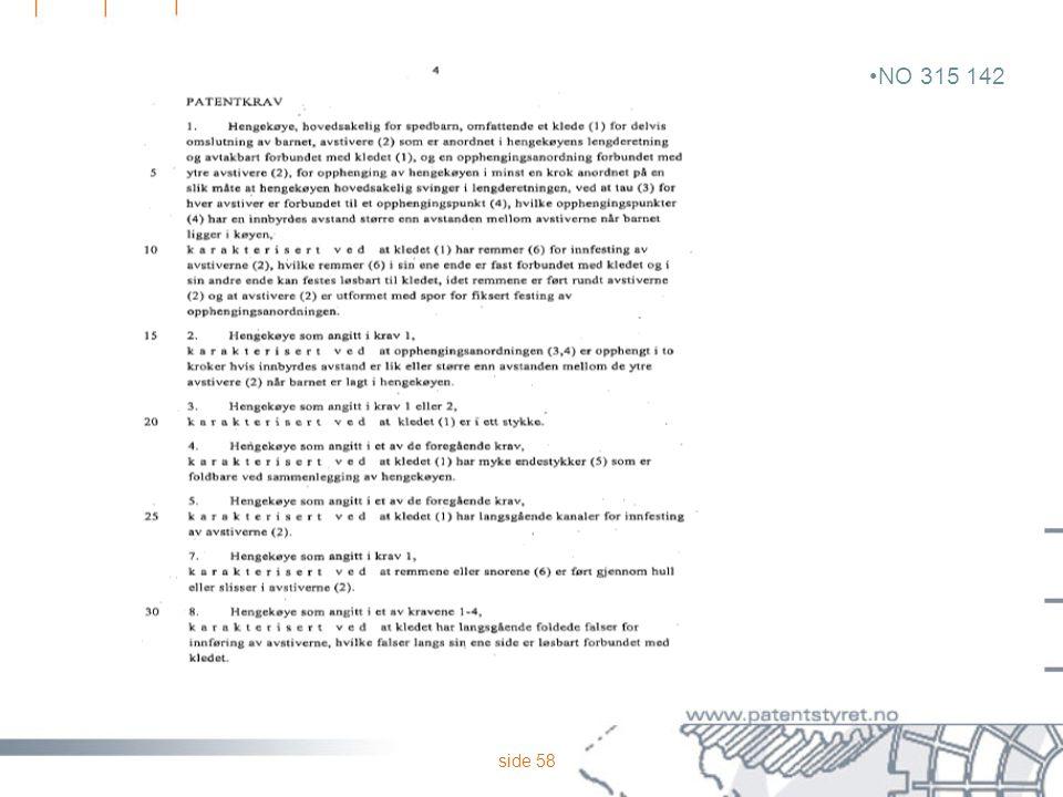 side 58 NO 315 142