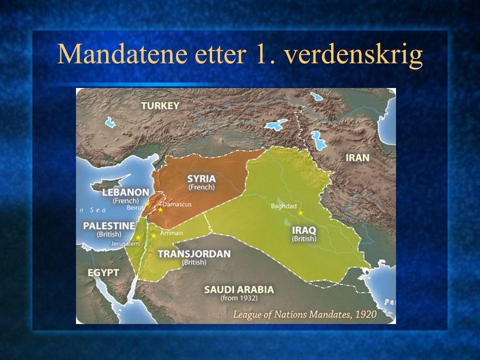 Mandatene etter 1. verdenskrig