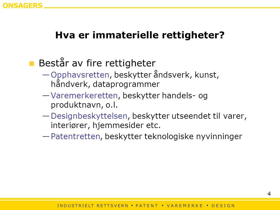 4 Hva er immaterielle rettigheter.