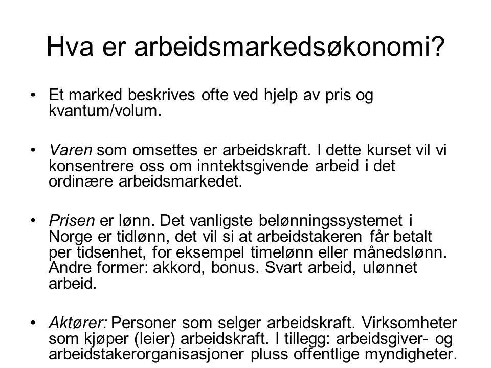 Hva er arbeidsmarkedsøkonomi.
