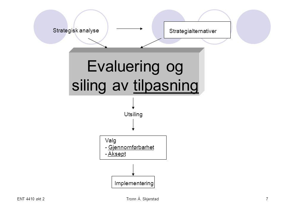 ENT 4410 økt 2Tronn Å.Skjerstad18 (b) Aksept som kriterium Hva blir avkastning (evt.