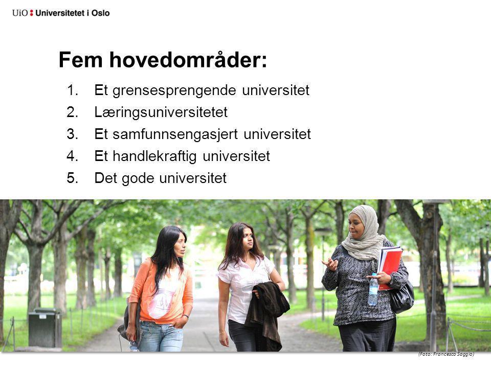 Læringsuniversitetet: Mål: Universitetet i Oslo skal tilby forskningsbasert utdanning på linje med de fremste internasjonale læresteder (Foto: Francesco Saggio)