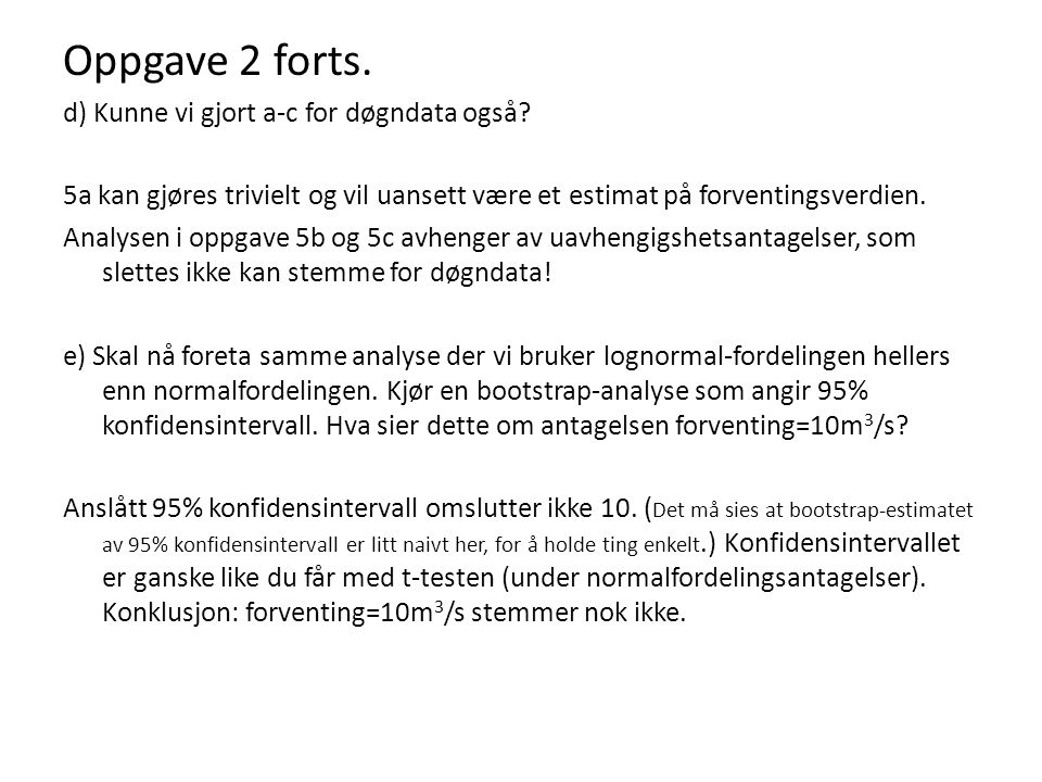 Oppgave 8 – forts.