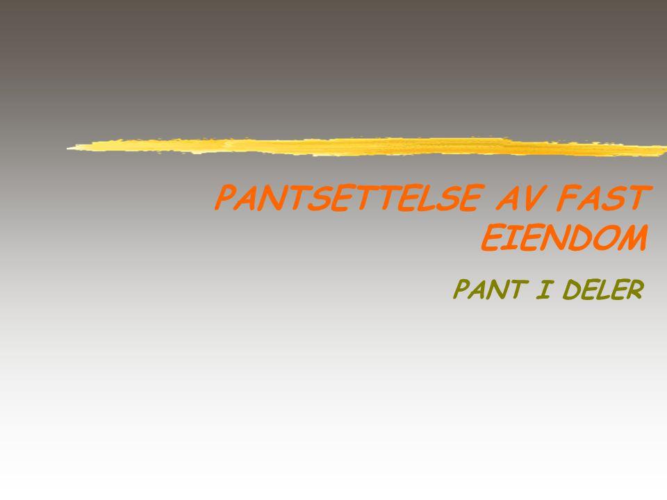PANTSETTELSE AV FAST EIENDOM PANT I DELER