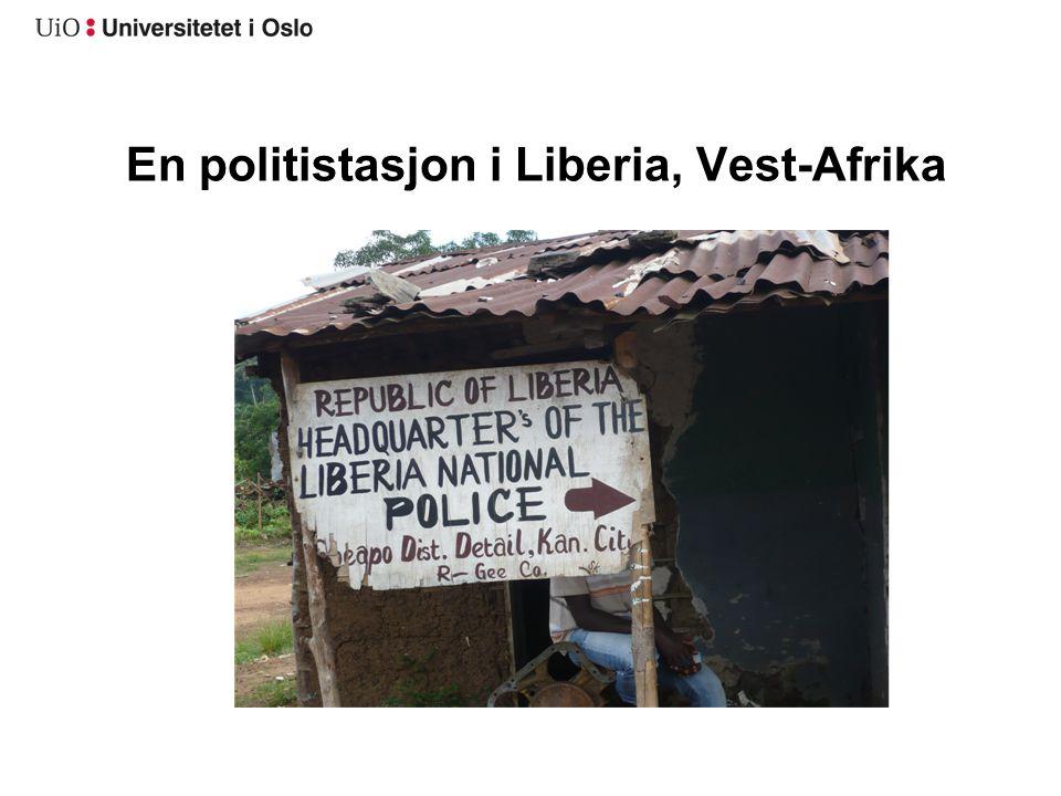 En politistasjon i Liberia, Vest-Afrika