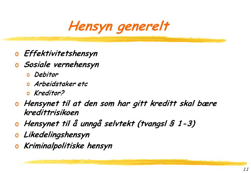 10 Hensyn