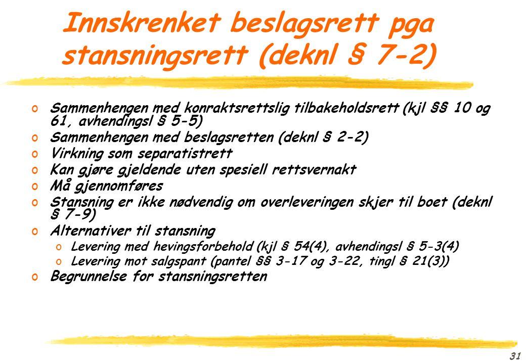 30 Massefordringer oVirkelige massefordringer (deknl § 9-2 første ledd) oMassefordringer ol fra tidligere bobehandling (deknl § 9-2 andre ledd)