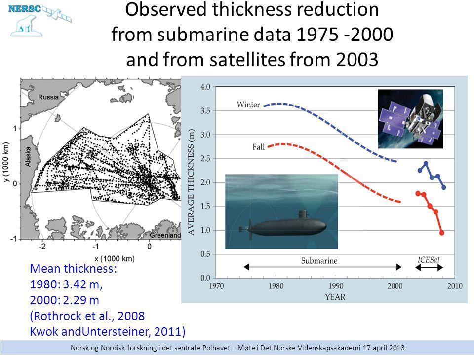 Norsk og Nordisk forskning i det sentrale Polhavet – Møte i Det Norske Videnskapsakademi 17 april 2013
