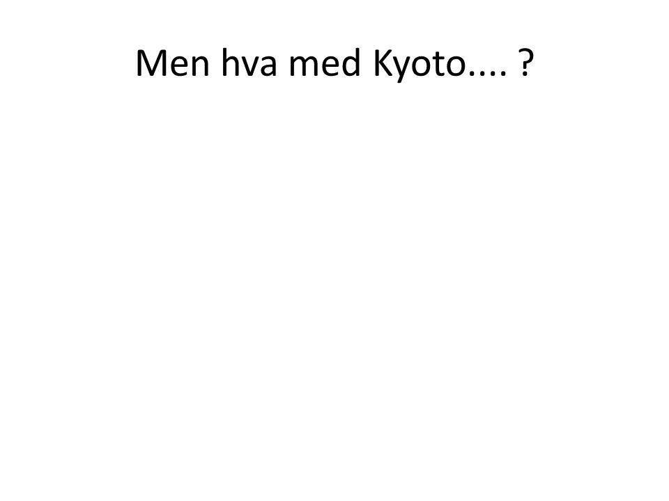 Men hva med Kyoto.... ?