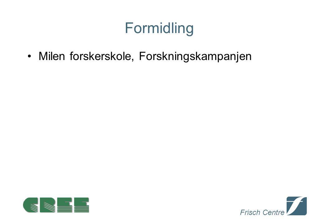 Frisch Centre Formidling Milen forskerskole, Forskningskampanjen