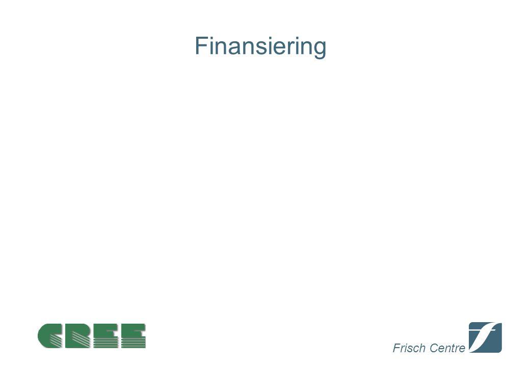 Frisch Centre Finansiering