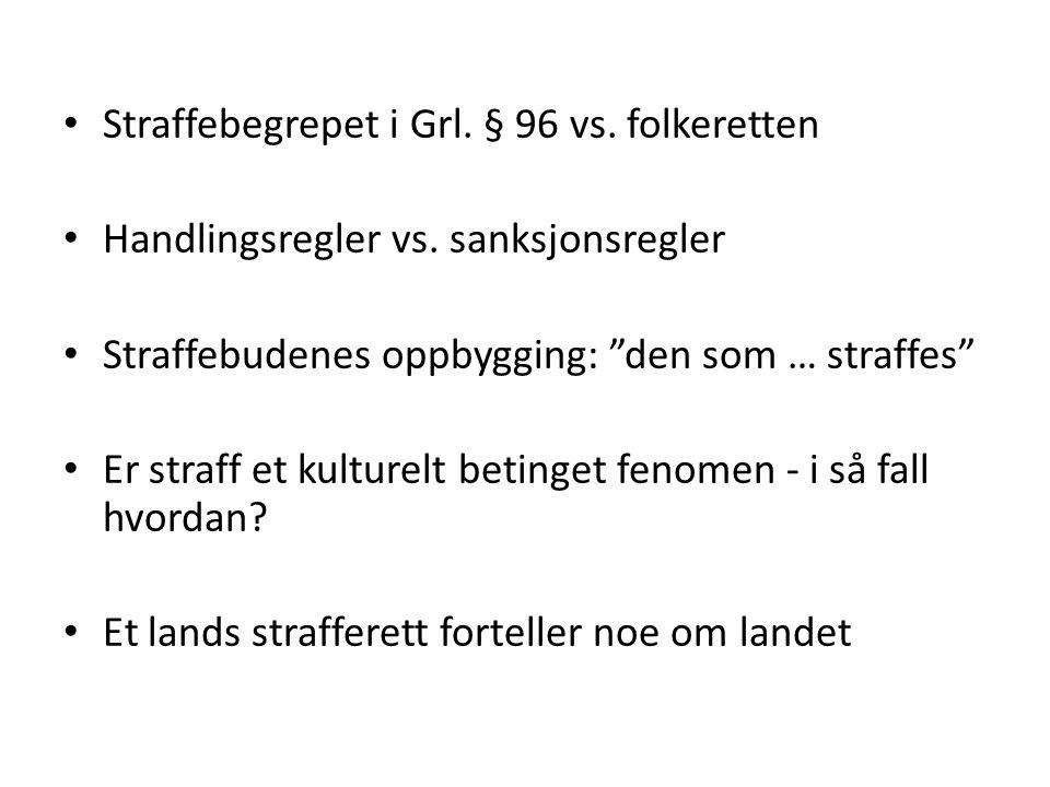 Strafferettslige konstruksjoner for å ramme risikohandlinger – STRAFF FOR RISIKOSKAPING Vi har en del spesialregler, men ingen generell Sverige: Brottsbalken kap.