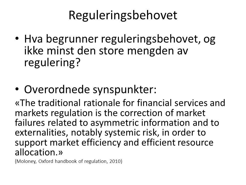 Velfungerende markeder (forts) Tillit til markedsfunksjonene og markedsaktørene er avgjørende Hva menes med effektiv.