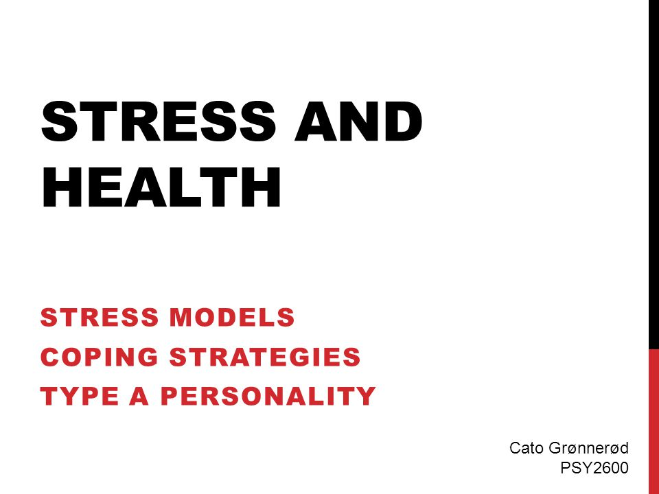 HEALTH BEHAVIOR MODEL Objective events Health behavior Appraisal as threatening Illness Physiological activation Personality Coping responses