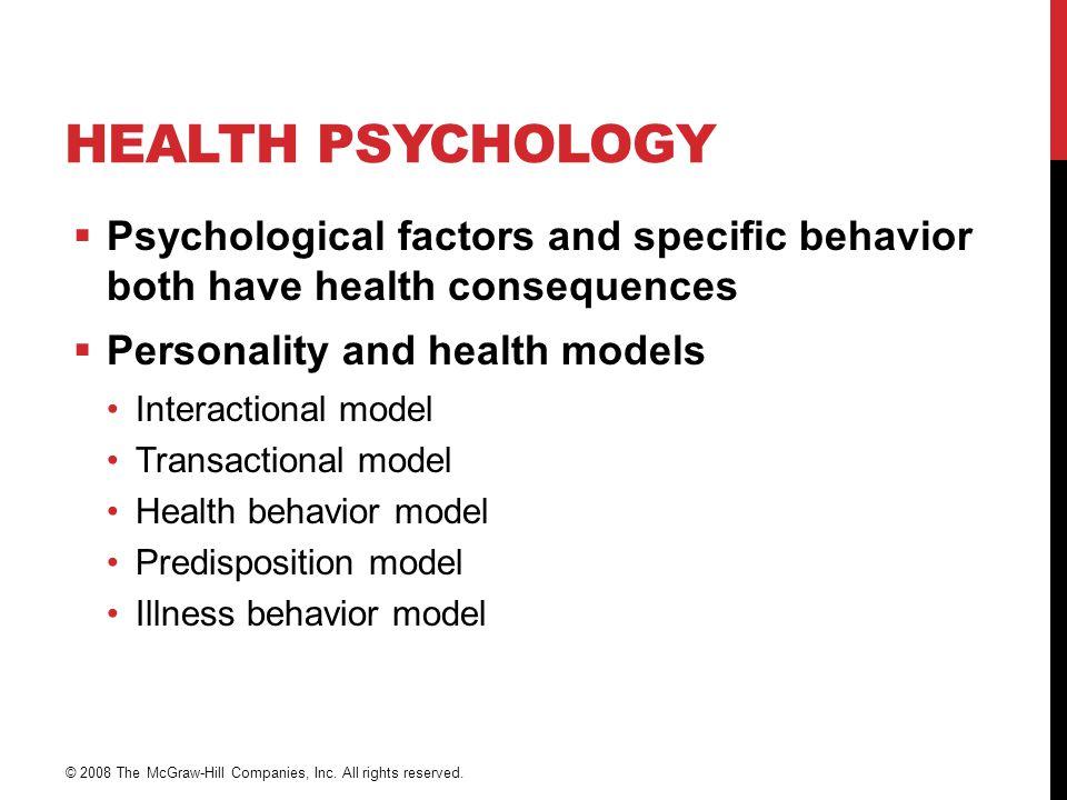 DIREKTEEFFEKTMODELL Sykdom Fysiologisk aktivering Objektive hendelser