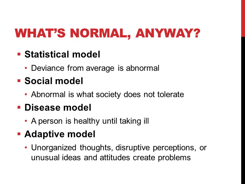 WHAT'S NORMAL, ANYWAY.