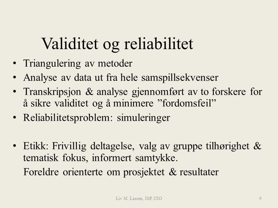 Liv M.Lassen, ISP, UIO10 II.