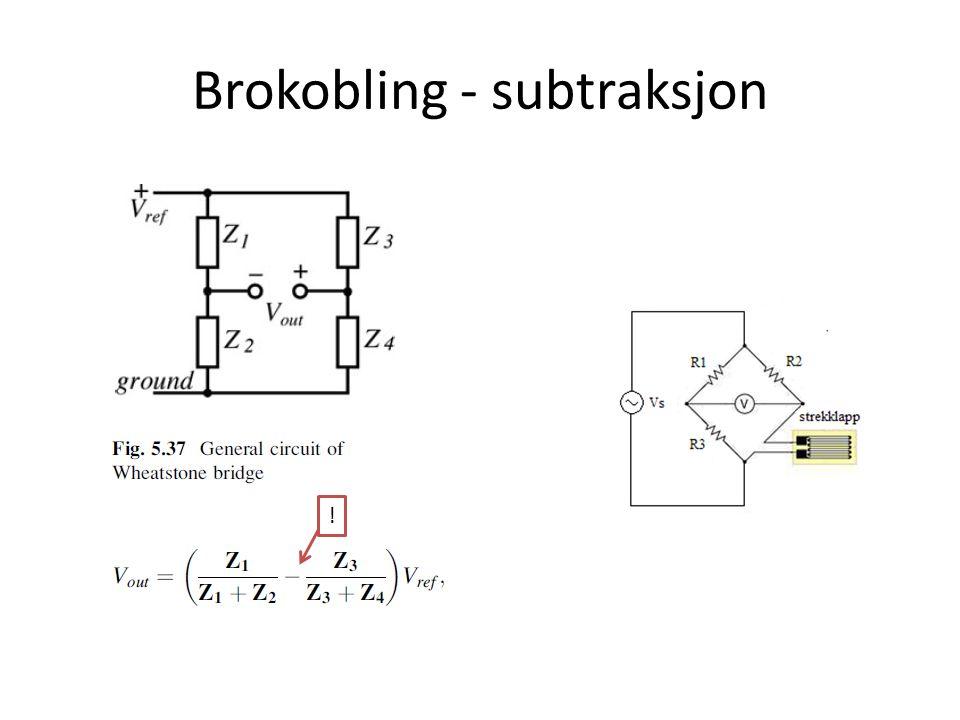 Brokobling - subtraksjon !