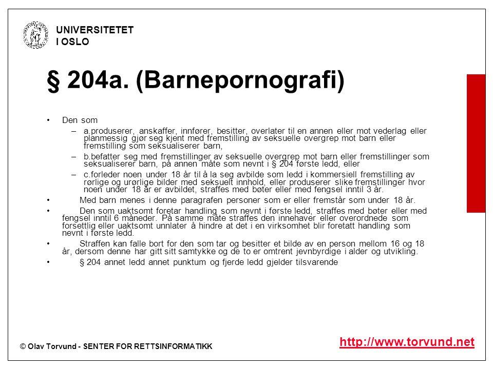 © Olav Torvund - SENTER FOR RETTSINFORMATIKK UNIVERSITETET I OSLO http://www.torvund.net Article 14 Hosting 1.