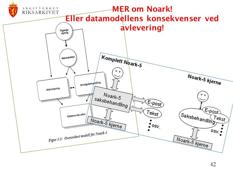42 MER om Noark! Eller datamodellens konsekvenser ved avlevering!