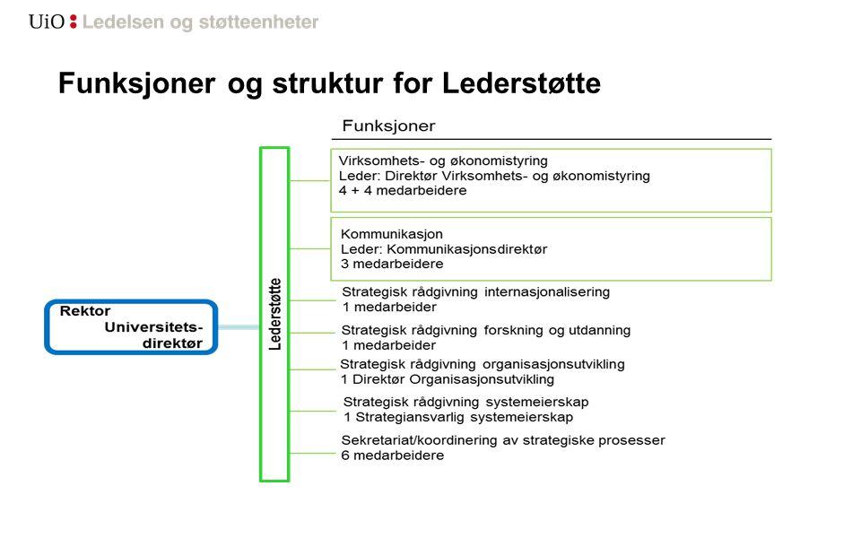 Funksjoner og struktur for Lederstøtte