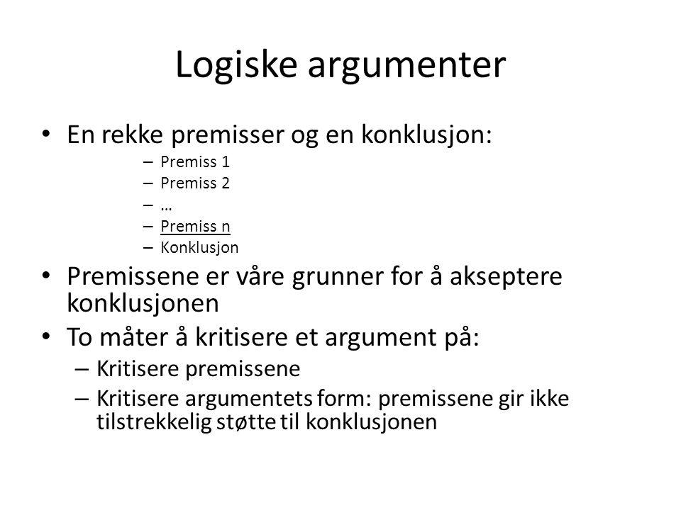 Deduksjon I Logisk gyldig slutning: – Hvis As fingeravtrykk er på drapsvåpenet, så er A skyldig i drapet på B.