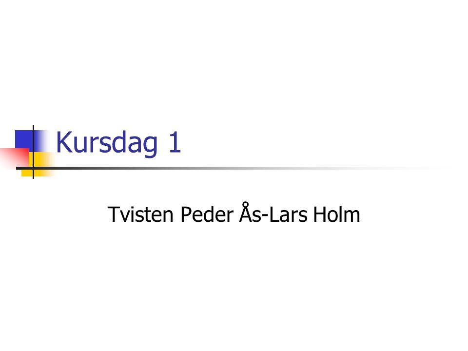 Kursdag 1 Tvisten Peder Ås-Lars Holm