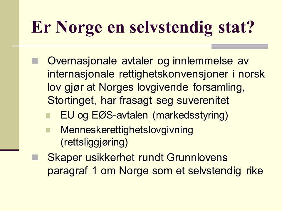 Nyliberal styringsideologi Staten i etterkrigstida: Den politiserte staten Staten i etterkrigstida: Den politiserte staten Siden 1980-tallet har Norge gradvis beveget seg over mot en nyliberal styringsideologi med en mer tilbaketrukket og koordinerende statlig rolle Siden 1980-tallet har Norge gradvis beveget seg over mot en nyliberal styringsideologi med en mer tilbaketrukket og koordinerende statlig rolle Privatisering, fristilling, konkurranseutsetting og markedsretting av offentlige oppgaver Privatisering, fristilling, konkurranseutsetting og markedsretting av offentlige oppgaver Kostnadseffektivitet har blitt et viktig forvaltningspolitisk mål Kostnadseffektivitet har blitt et viktig forvaltningspolitisk mål