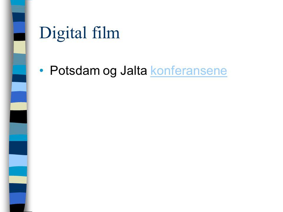 Digital film Potsdam og Jalta konferansenekonferansene