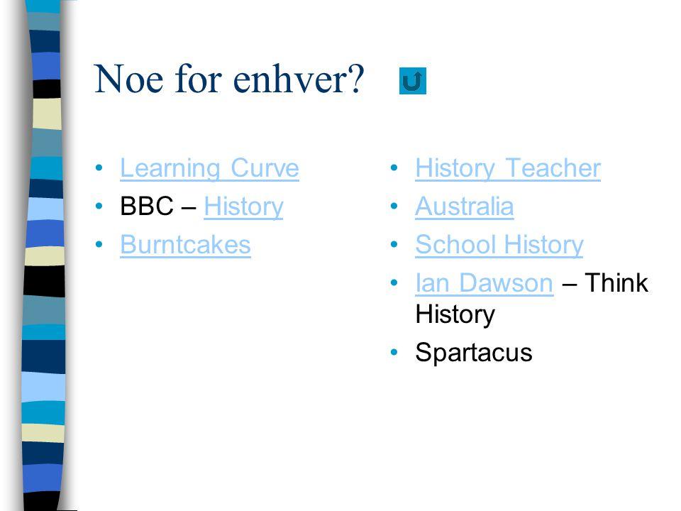 Noe for enhver? Learning Curve BBC – HistoryHistory Burntcakes History Teacher Australia School History Ian Dawson – Think HistoryIan Dawson Spartacus