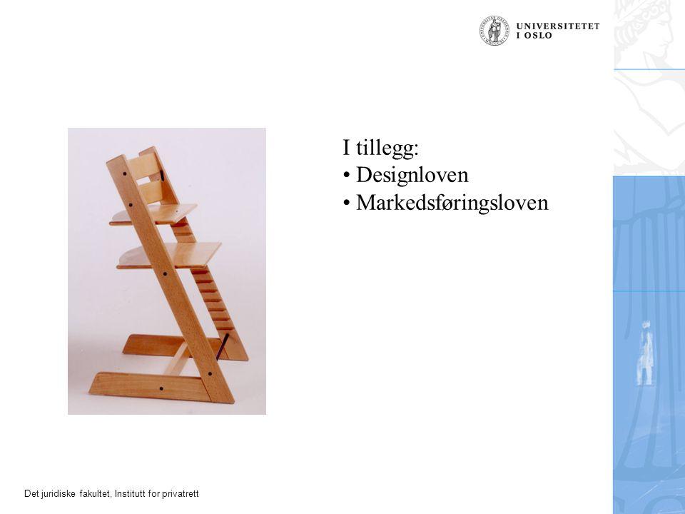Det juridiske fakultet, Institutt for privatrett Tripp Trapp – varemerke NO reg. nr. 214556 Kl. 20: Barnestoler Ljungby tingsrätt 16. desember 1997 (s