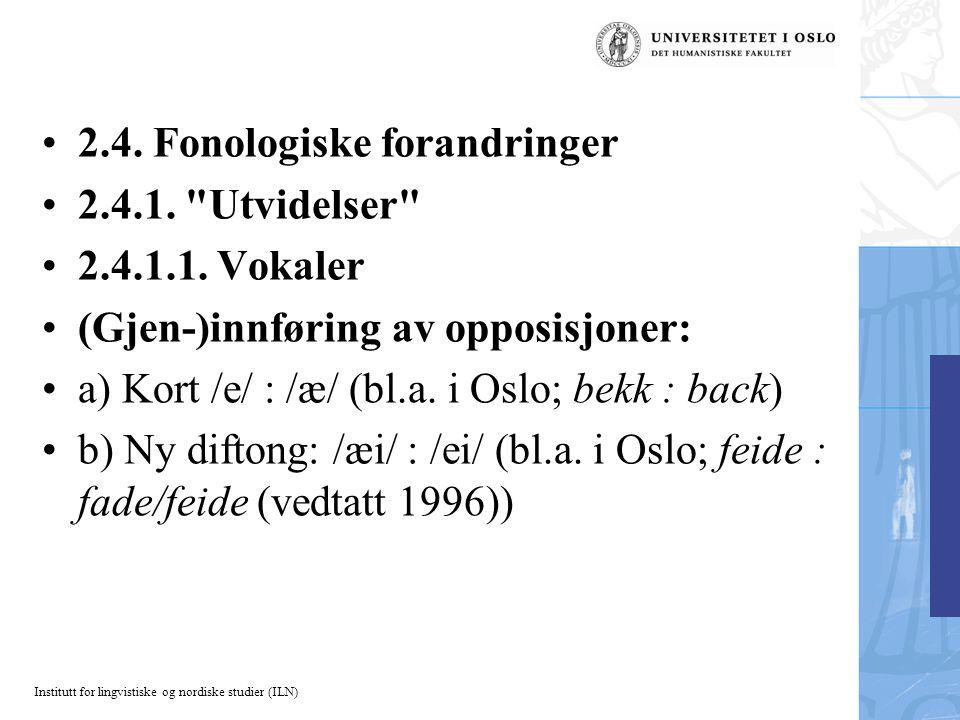 Institutt for lingvistiske og nordiske studier (ILN) 2.4.