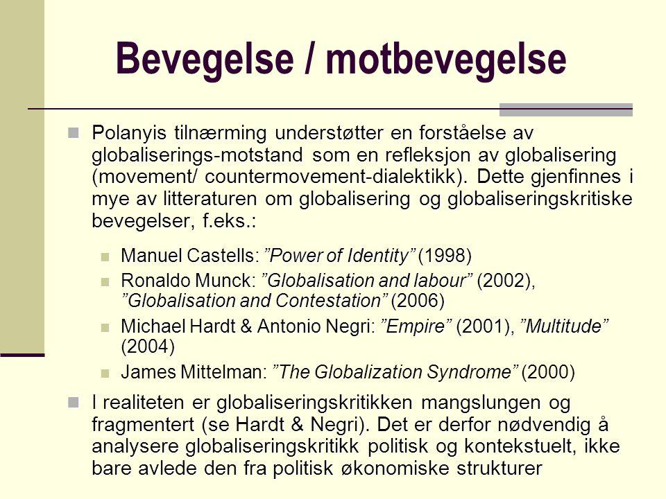 Politisk Islam Strukturelle årsaker for kollektiv mobilisering Mobiliserings- strukturer Politiske muligheter Kollektiv identitet Cultural homogenization  cultural reaction to globalization / clash of cultures ??.