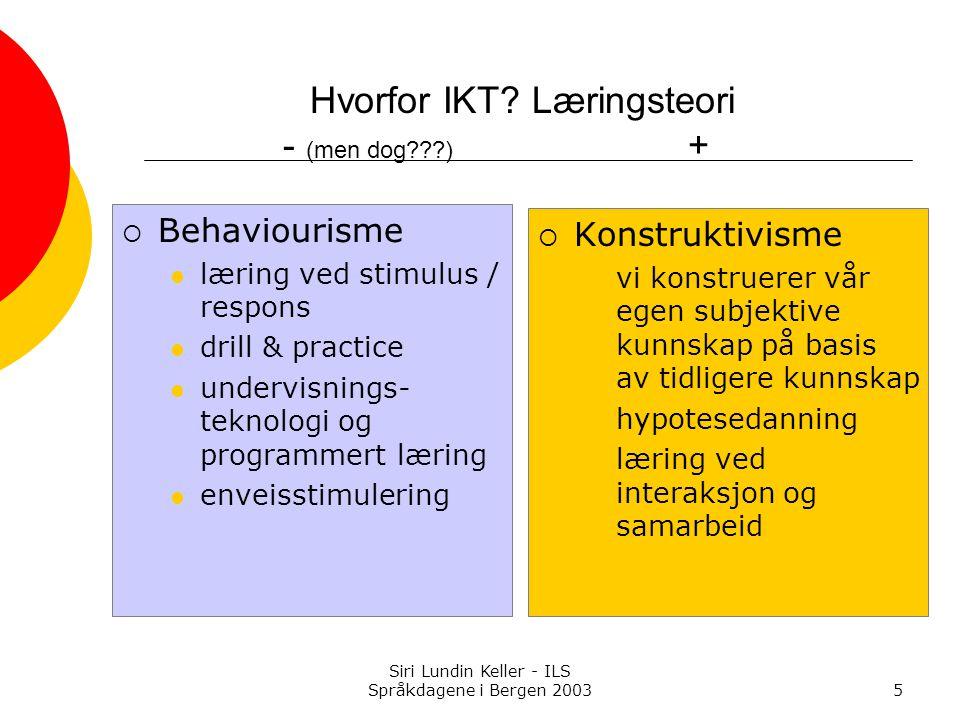 Siri Lundin Keller - ILS Språkdagene i Bergen 200346 Nett-kapasitet?