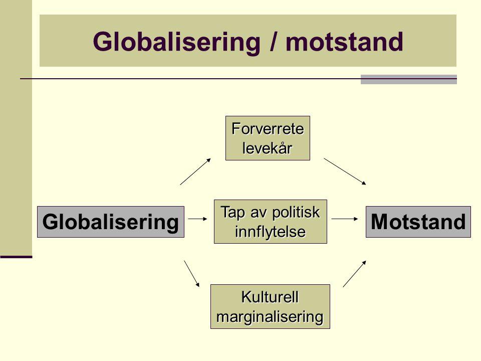 Polyanis perspektiv leder til en forståelse av globaliseringsmotstand som en automatisk, organisert og homogen front (lokalt, nasjonalt og globalt).