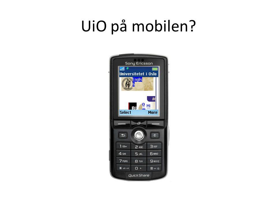 UiO på mobilen