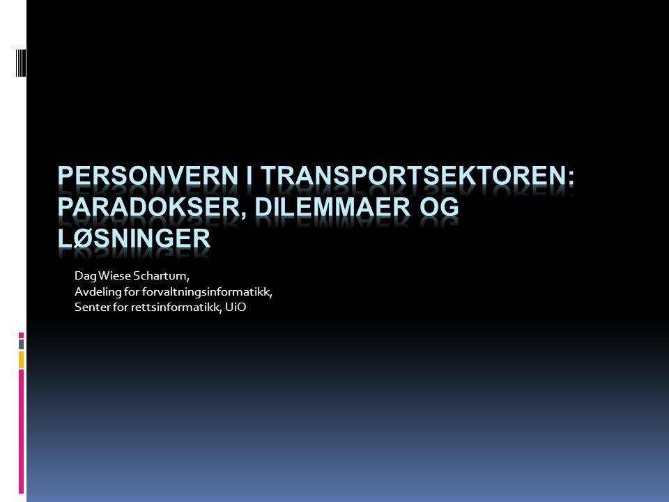 Dag Wiese Schartum, Avdeling for forvaltningsinformatikk, Senter for rettsinformatikk, UiO