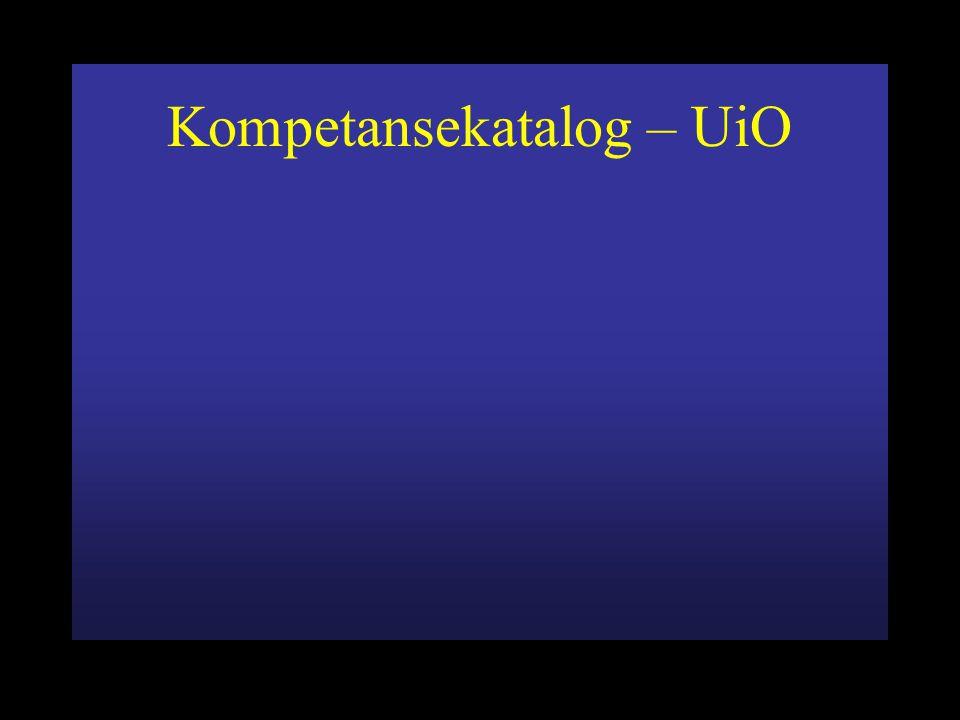Kompetansekatalog – UiO