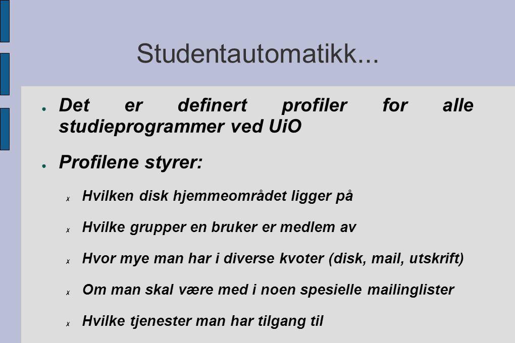 Studentautomatikk...