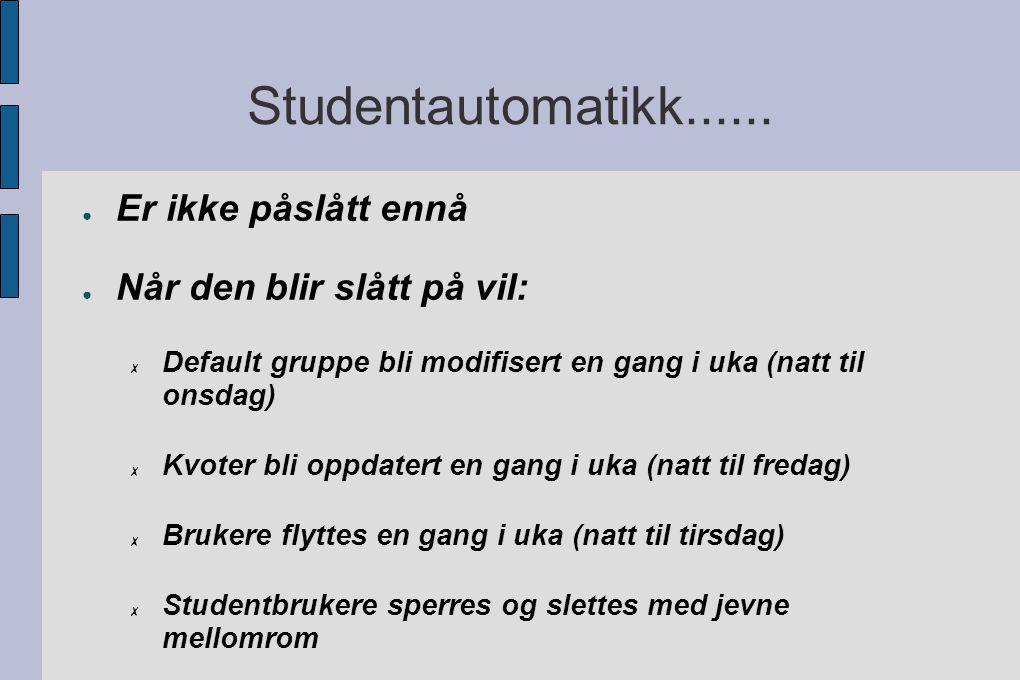 Studentautomatikk......