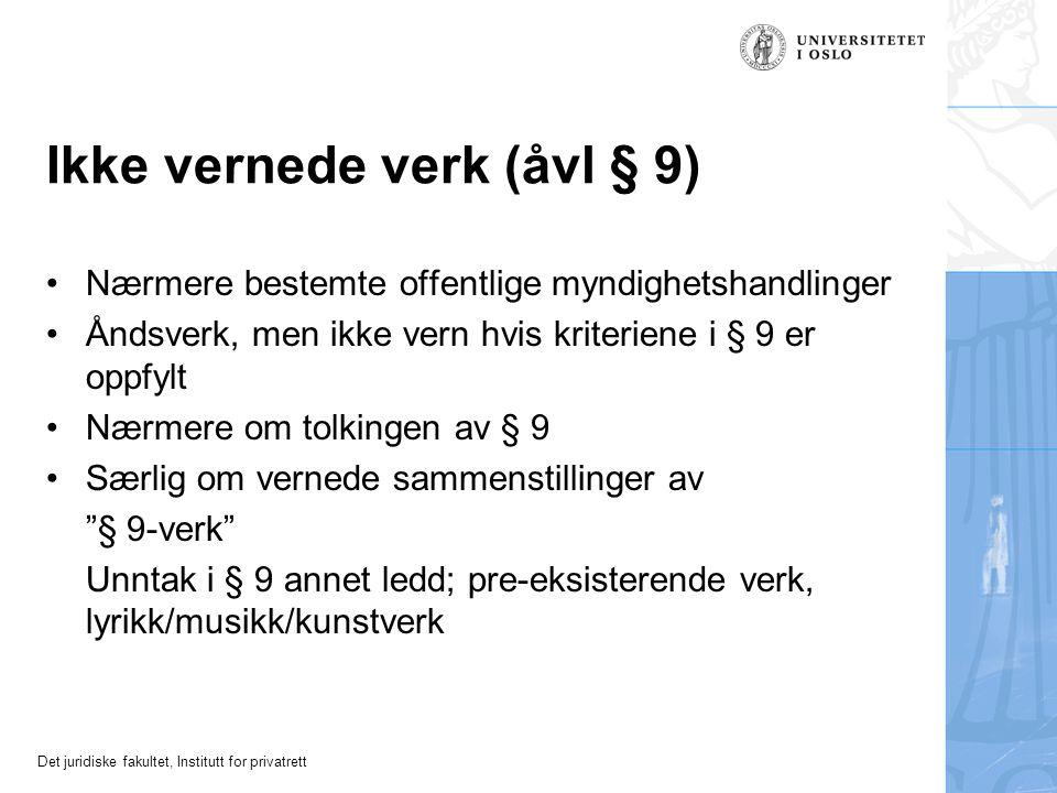 Det juridiske fakultet, Institutt for privatrett RG 1994 s. 270 (Fredrikstad byrett), jf. også UfR 2001 s. 747 (Højesteret DK)
