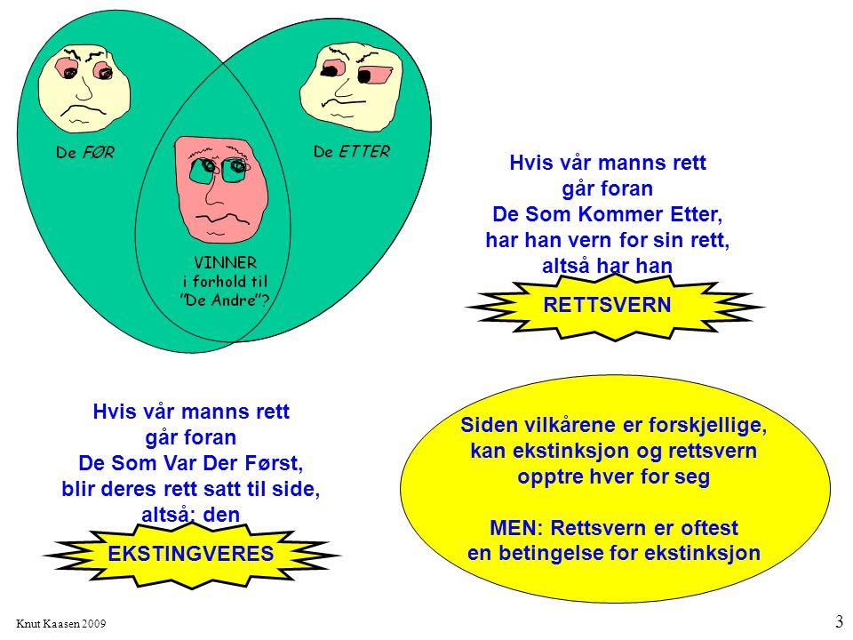 Knut Kaasen 2009 3 Hvis vår manns rett går foran De Som Kommer Etter, har han vern for sin rett, altså har han RETTSVERN Hvis vår manns rett går foran