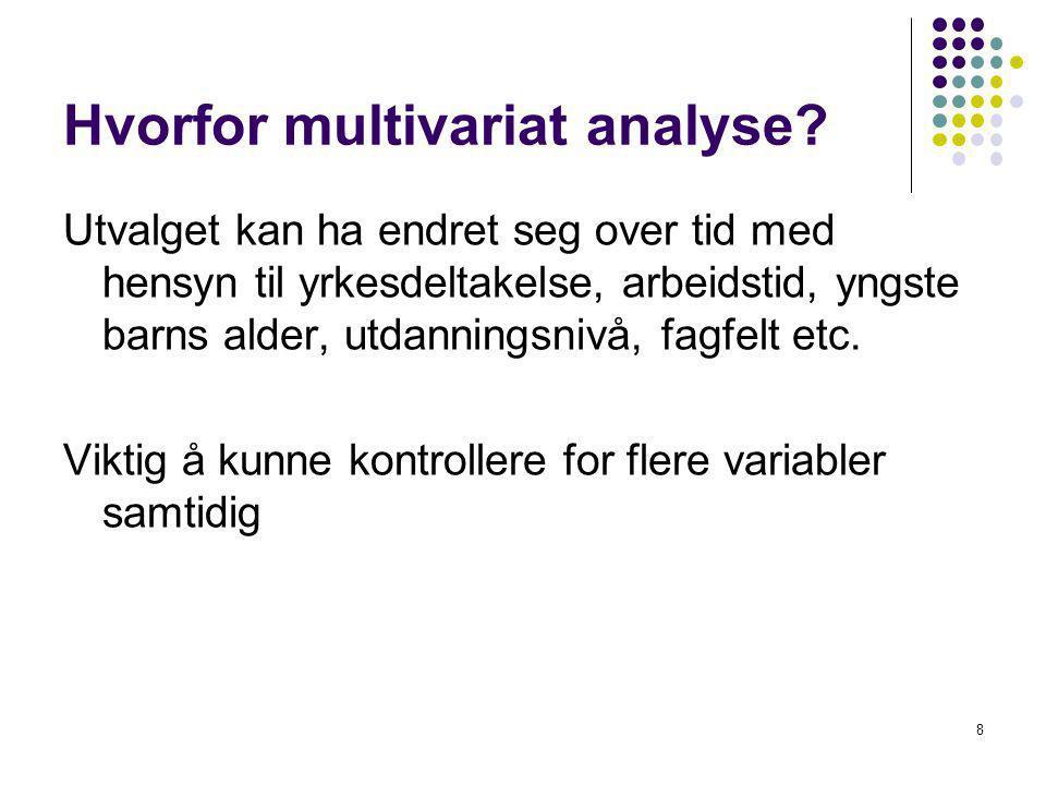 Hvorfor multivariat analyse.